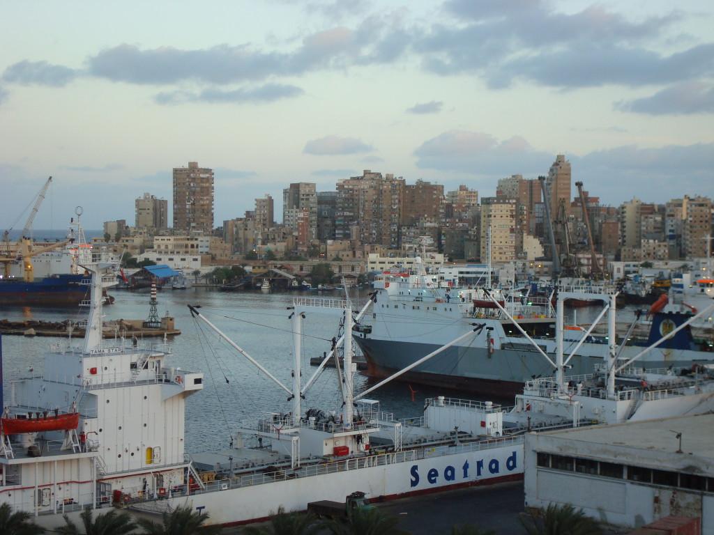 Blick auf den Hafen von Alexandria