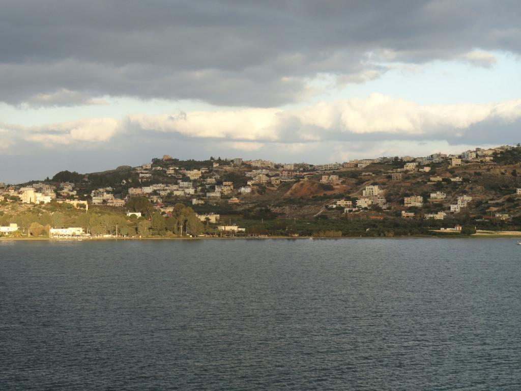 Blick auf Chania vom Kreuzfahrtschiff