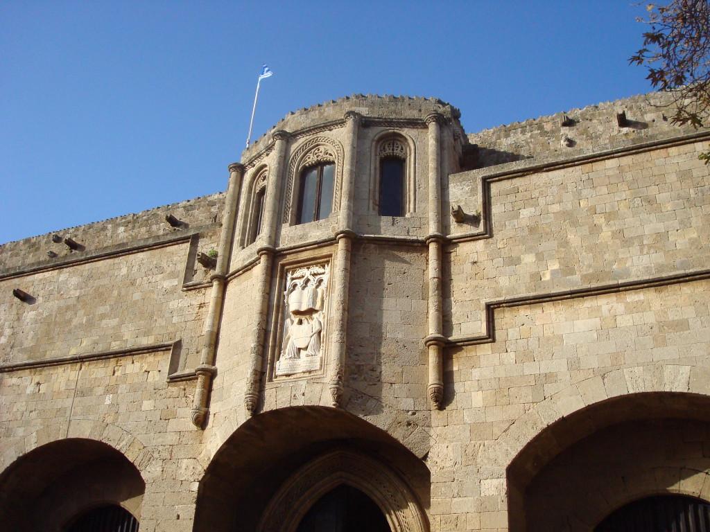 Ein Gebäude von der Mittelalterliche Stadt von Rhodos