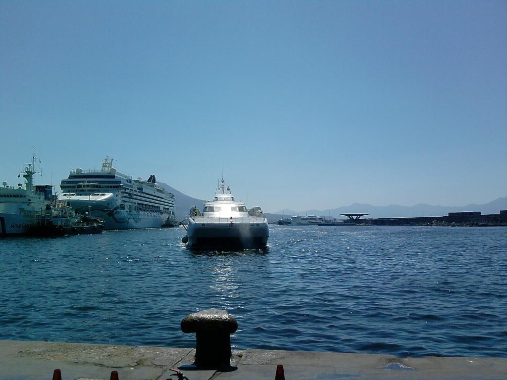 Überfahrt mit der Fähre von Neapel nach Capri