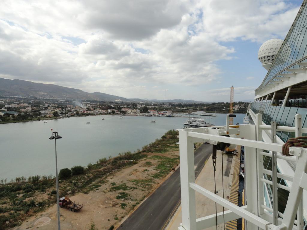 Blick auf den Hafen in Chania