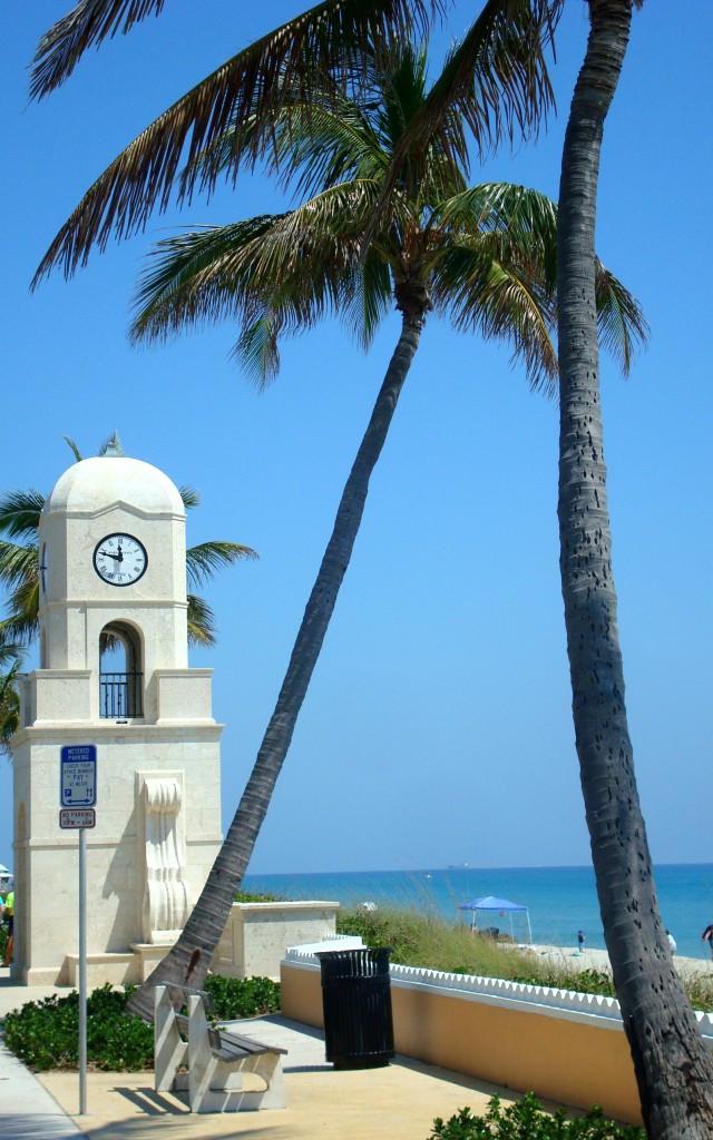 Strand Turm Palmen Miami