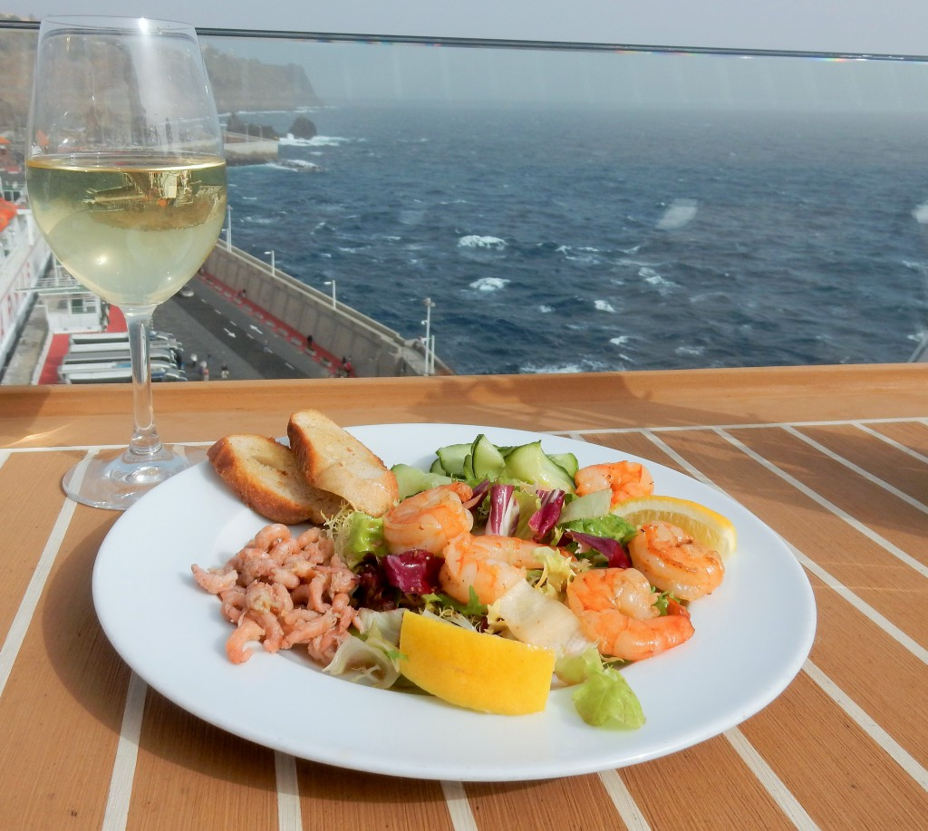 Gosh Sylt Mittagessen auf dem Kreuzfahrtschiff Mein Schiff 4
