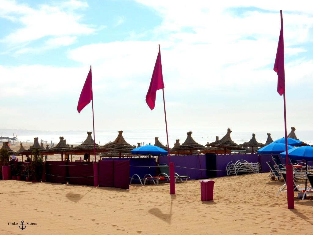 Der Strand von Agadir in Marokko