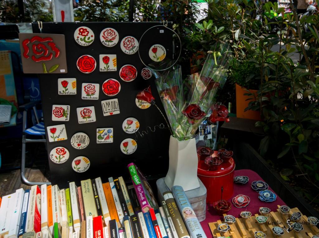 Rosensouvenirs an Sant Jordi