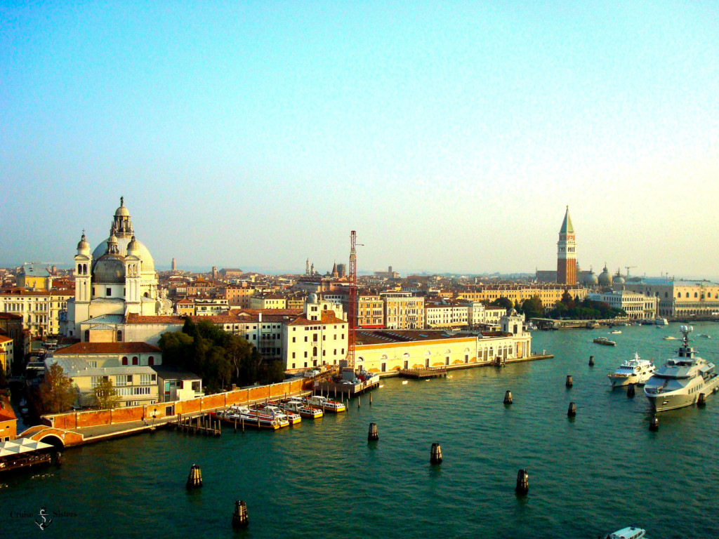 view of Venice upon arrival
