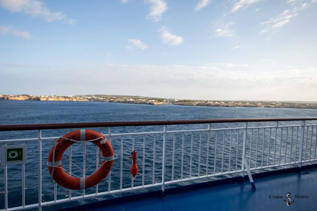 Ankunft in Ciutadella mit der Fähre