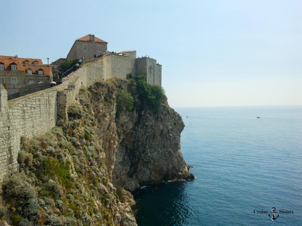 Die Sadtmauer von Dubrovnik in Kroatien