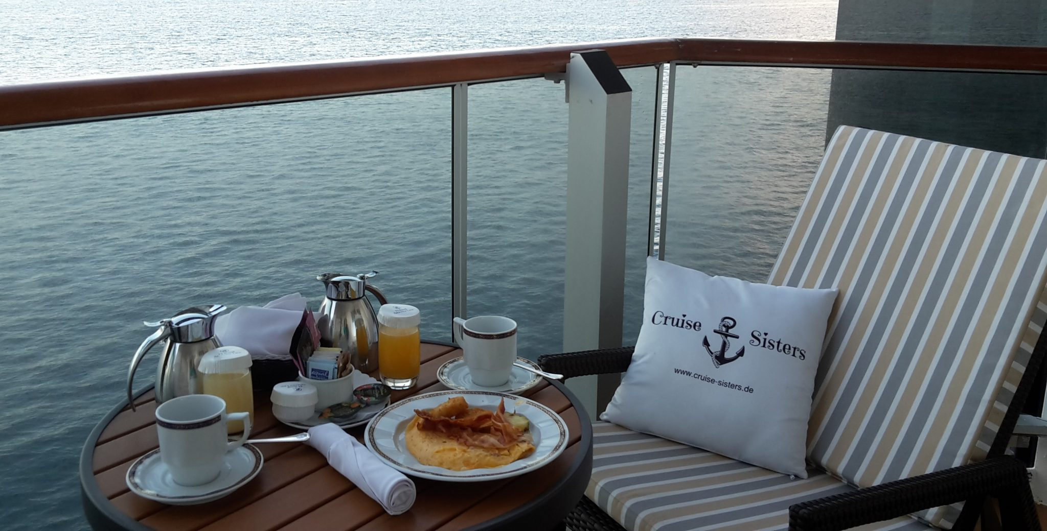 Frühstück in der Kabine auf der Eurodam
