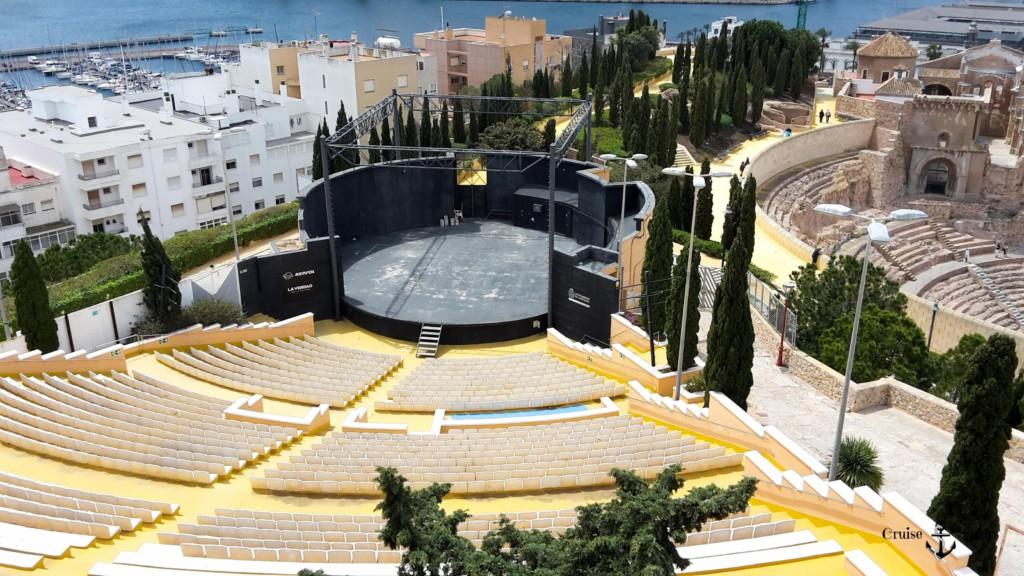 Theater und Blick über Cartagena