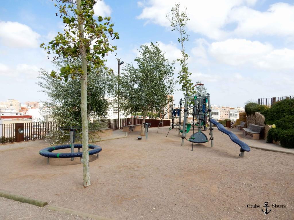 Spielplatz im Parque Archqueologico Molinete