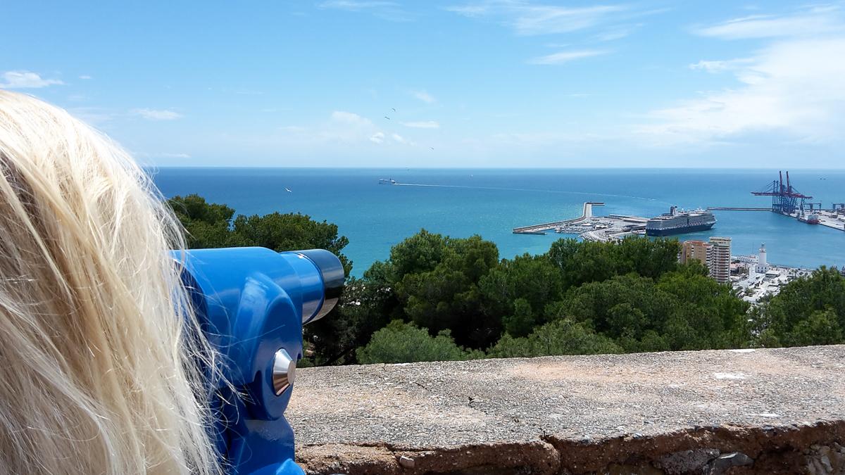 Aussichtspunkt auf der Burg Gibralfaro