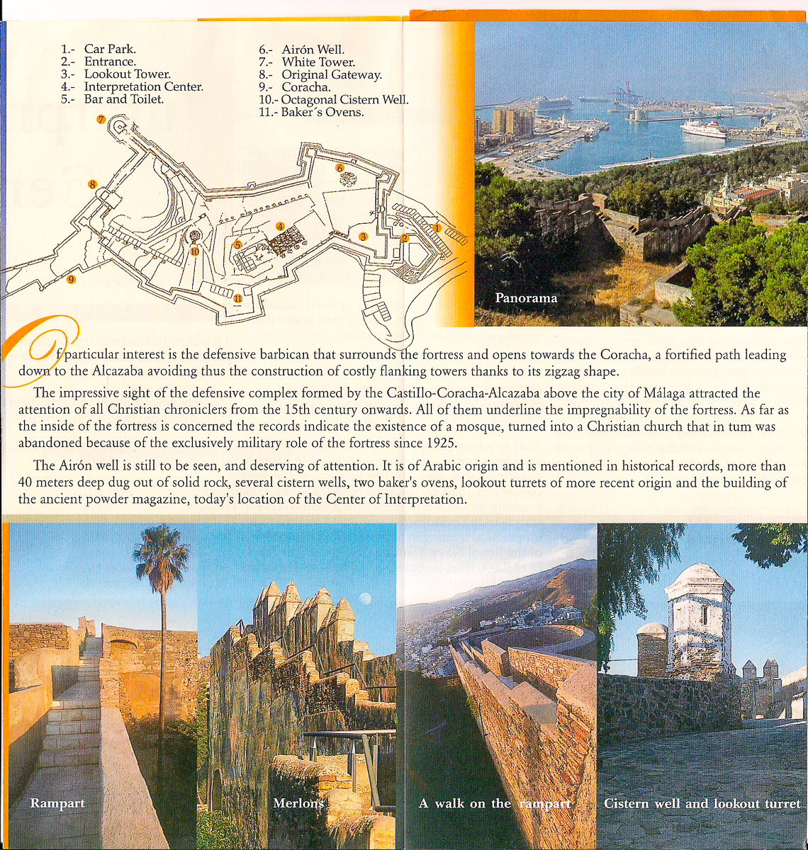 Information about the castle Gibralfaro