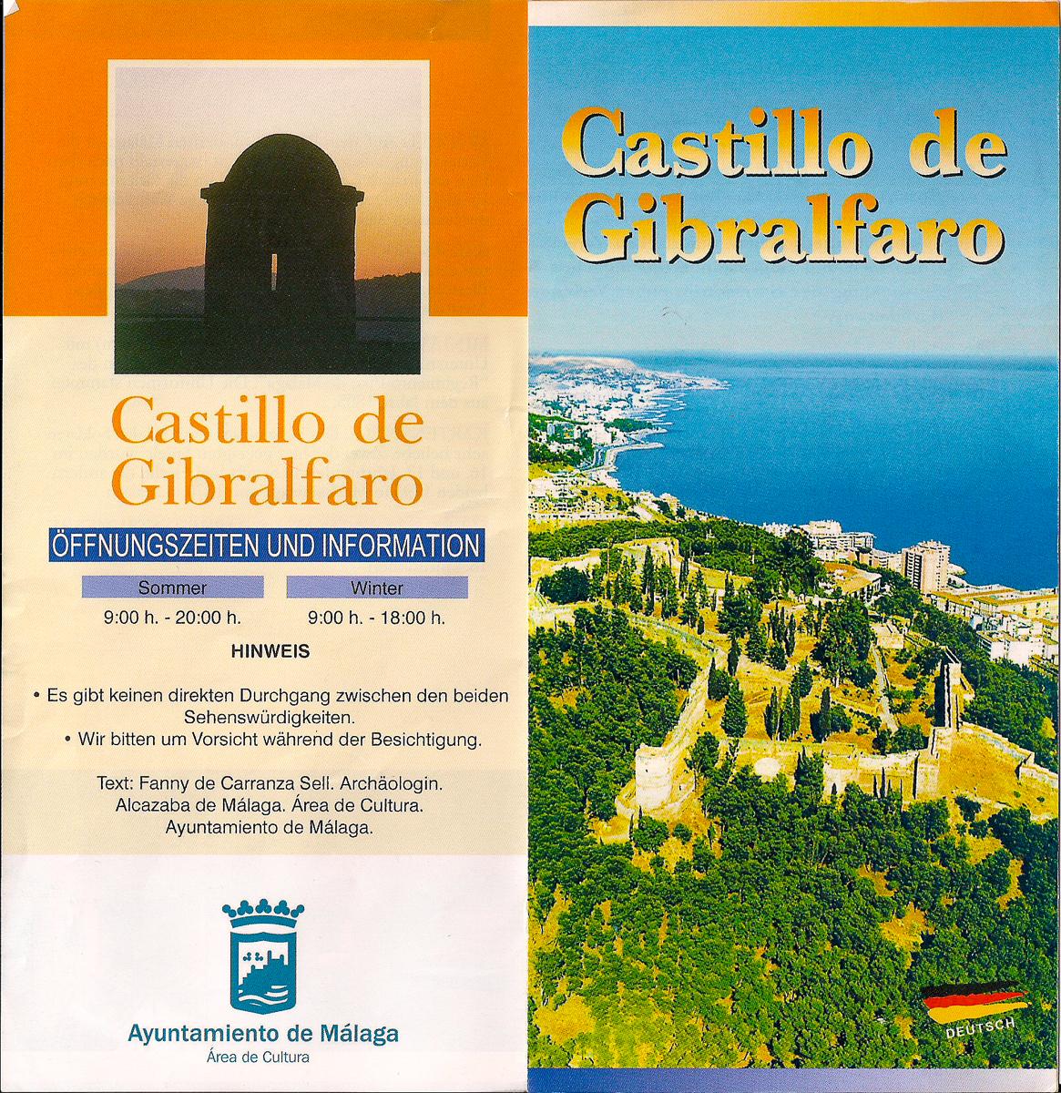Flyer zur Burg Gibralfaro