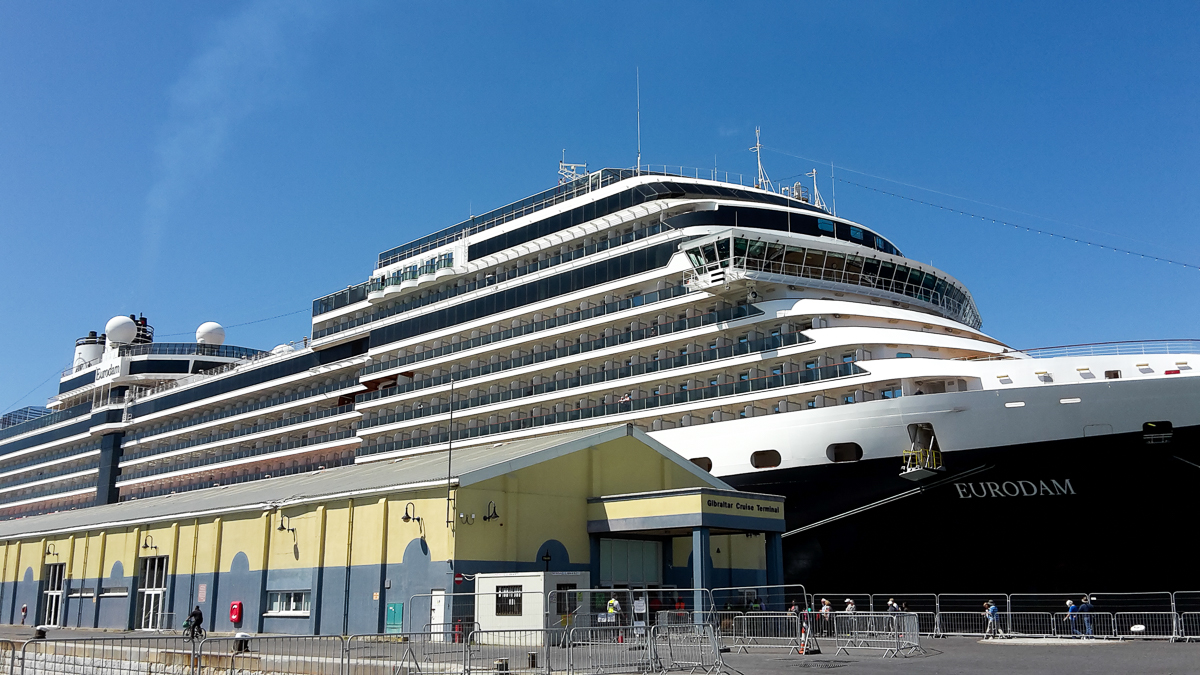 The Eurodam in the port of Gibraltar