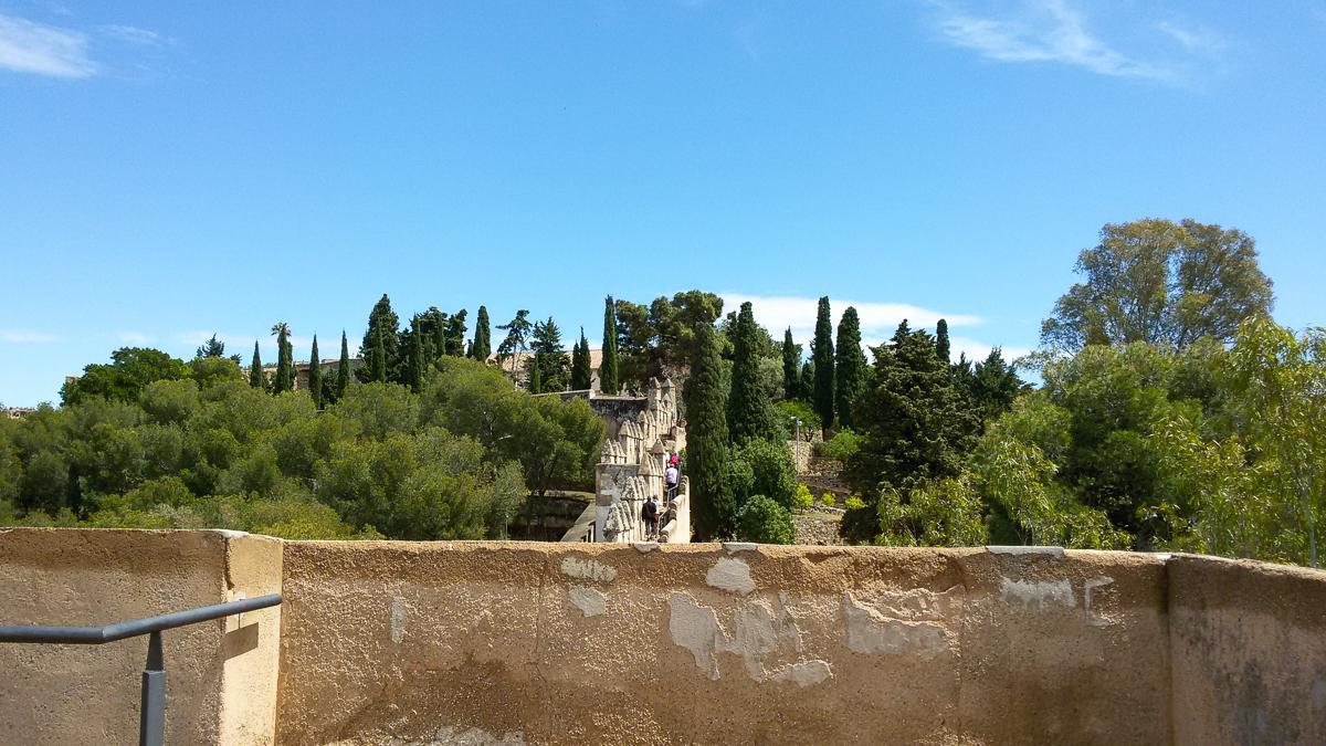 Weg zum Castillo de Gibralfaro
