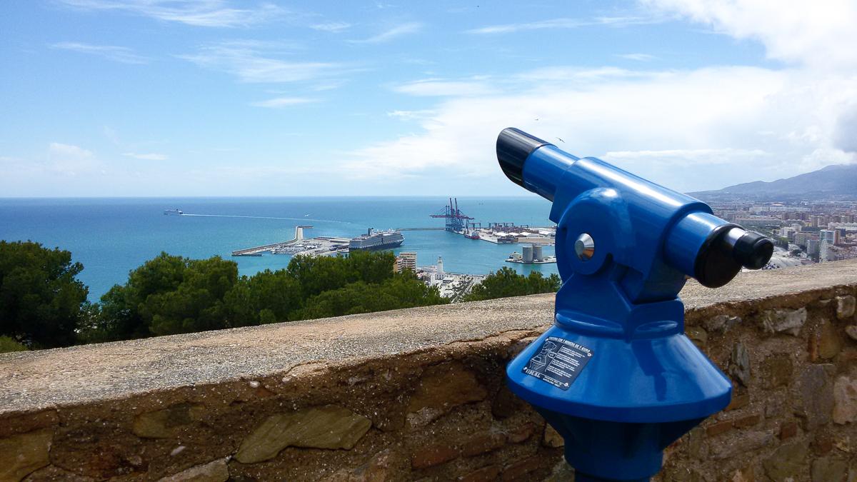 Aussichtspunkt auf der Burg Gibralfaro in Malaga