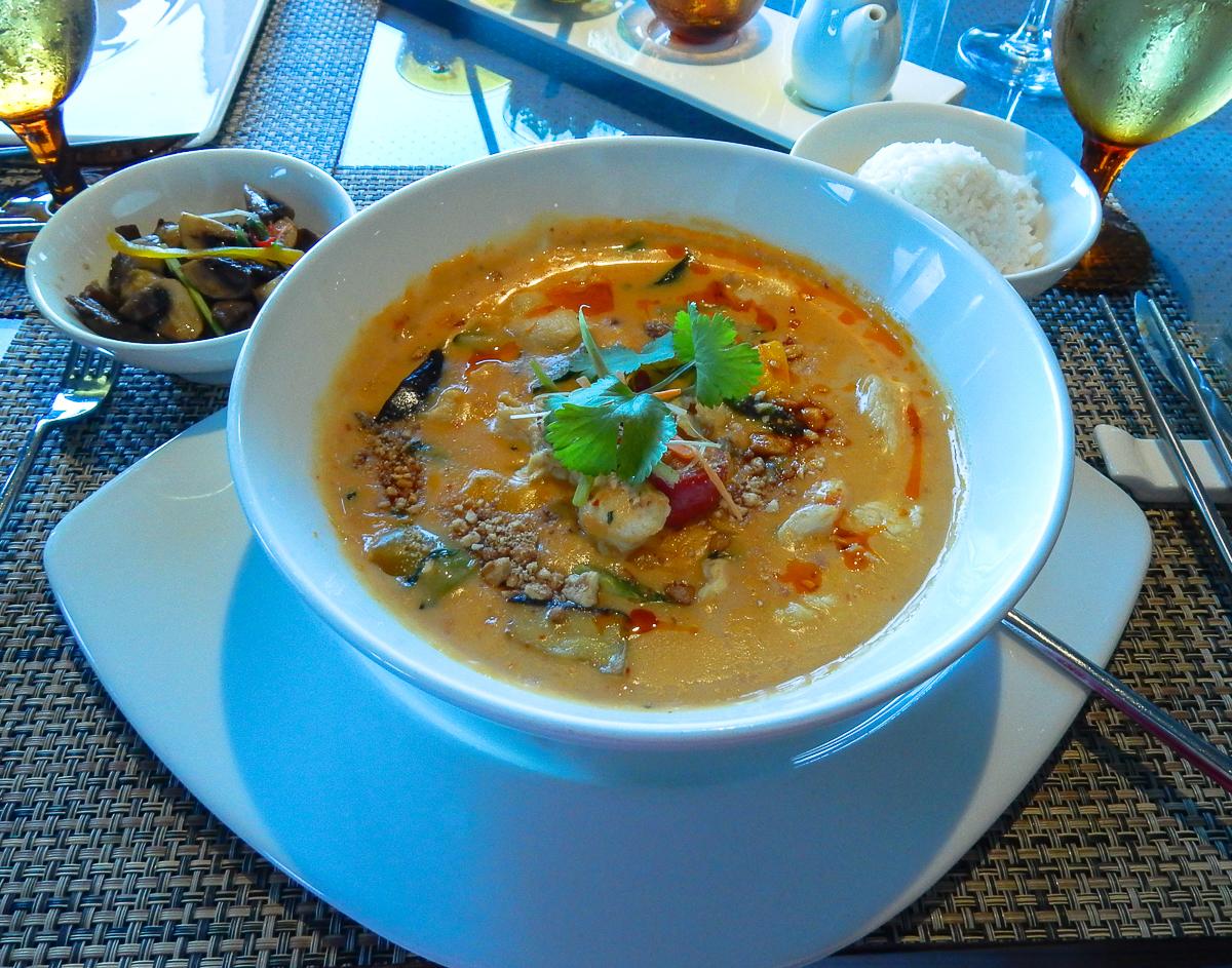 Main Dish at the Tamarind Restaurant aboard the Eurodam