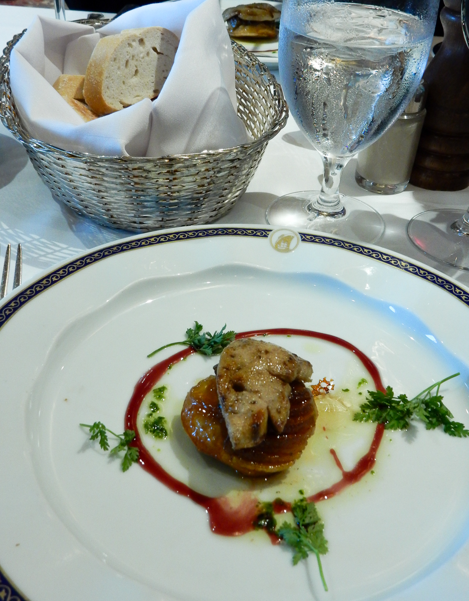 Eurodam Gala Dinner Foie Gras with Apple Tarte Tartin