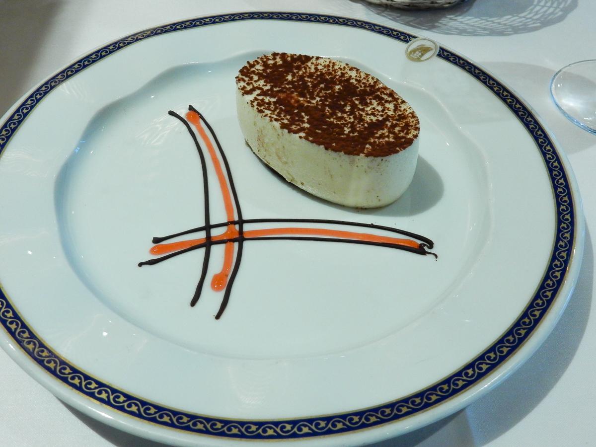 Eurodam Gala Dinner Tiramisu