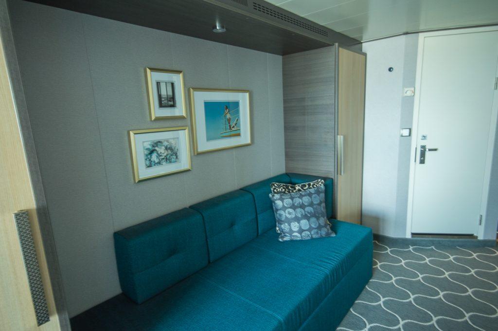 Sofa in Balcony Stateroom