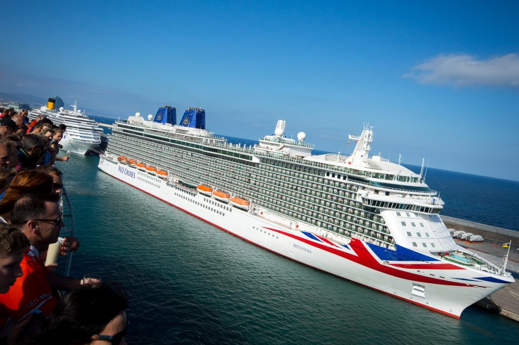 View of Britannia from aboard the Harmony of the Seas