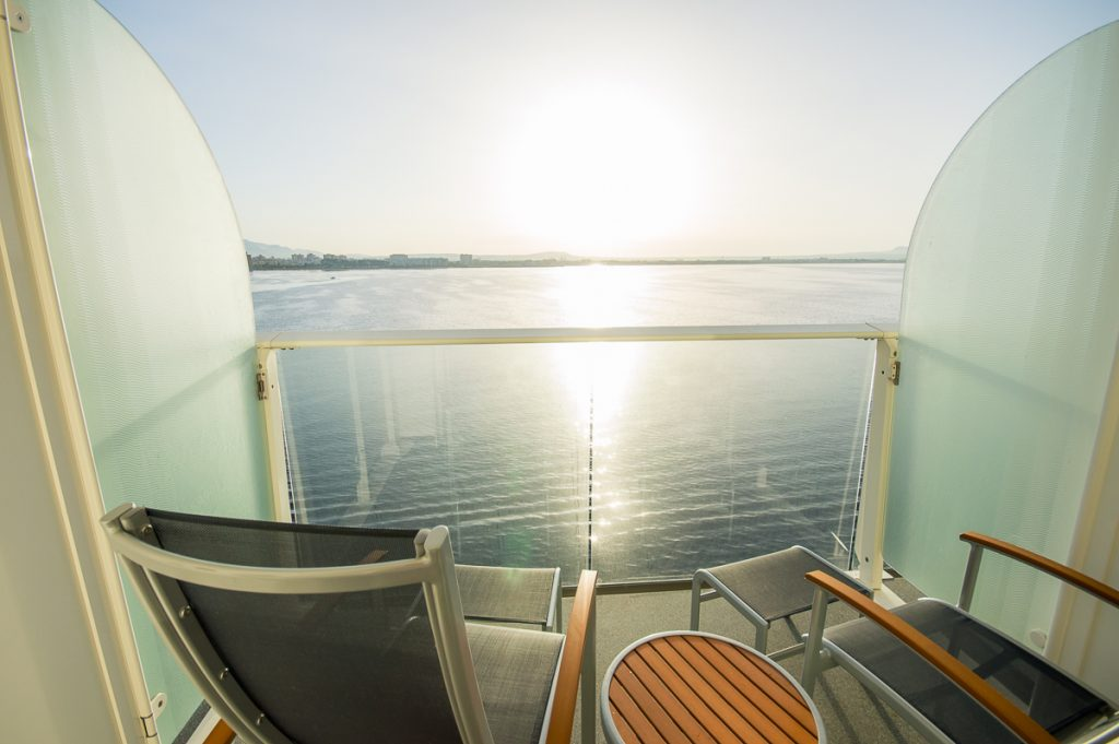 Balcony on board the Harmony of the Seas