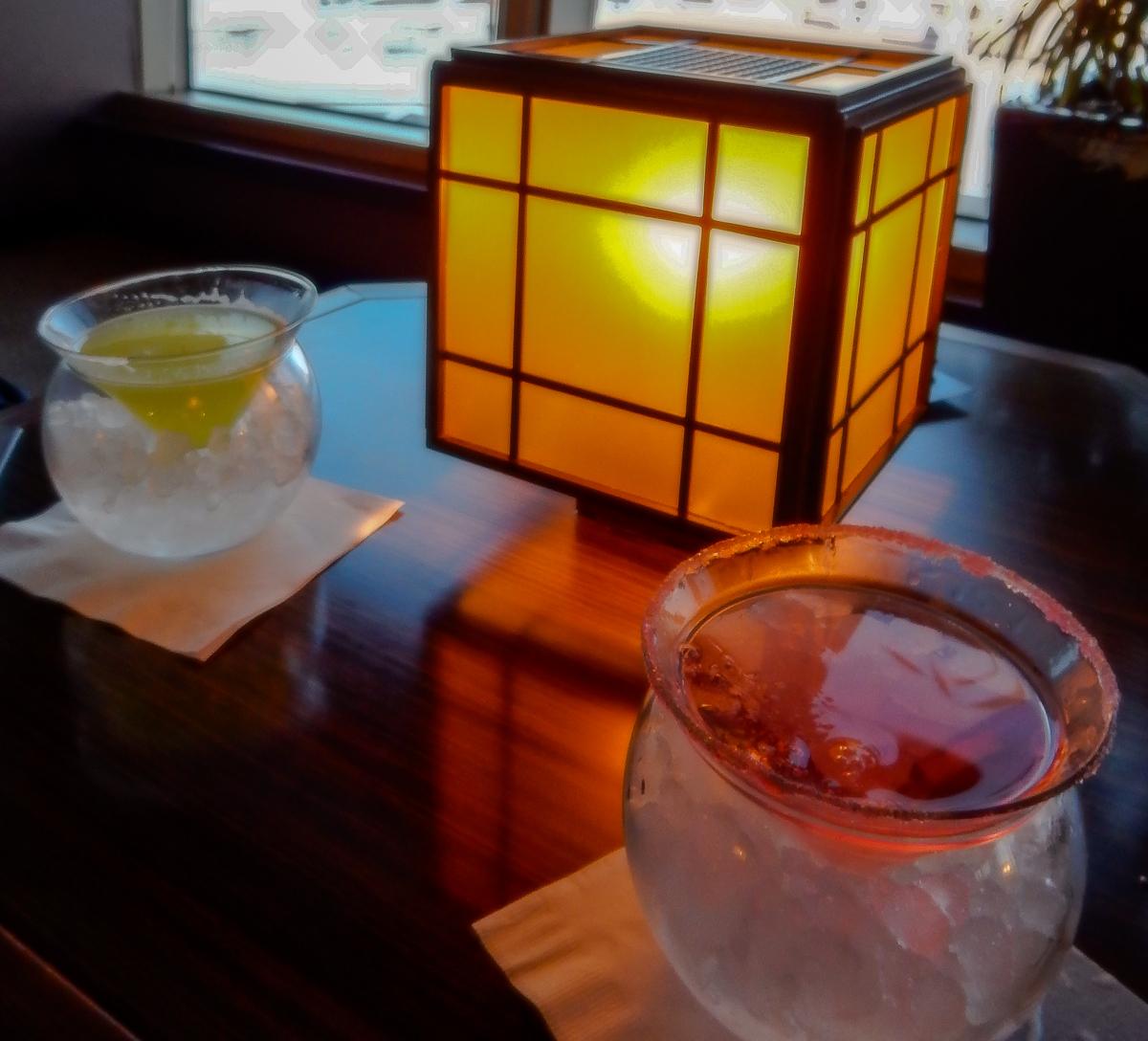 Saketini at the Tamarind Bar aboard the Eurodam