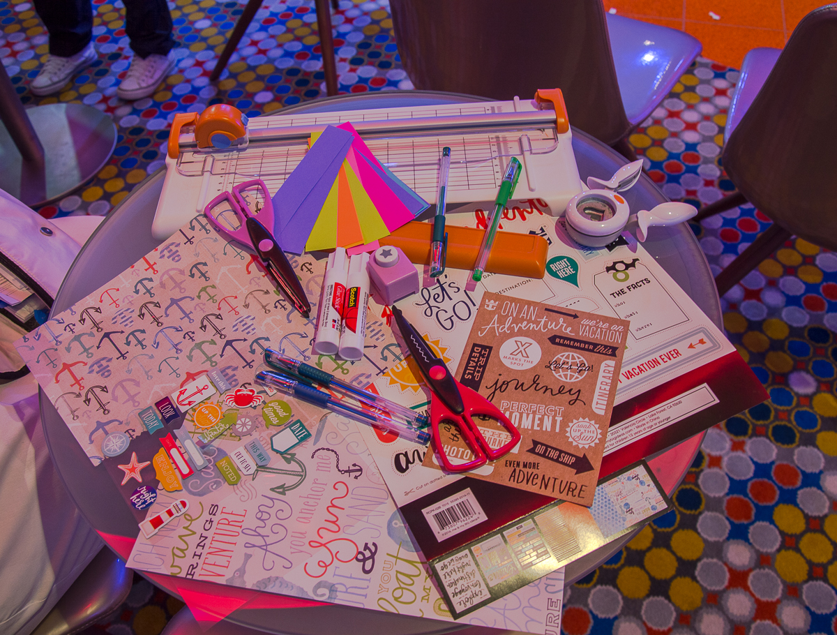 Scrapbooking course onboard Harmony of the Seas