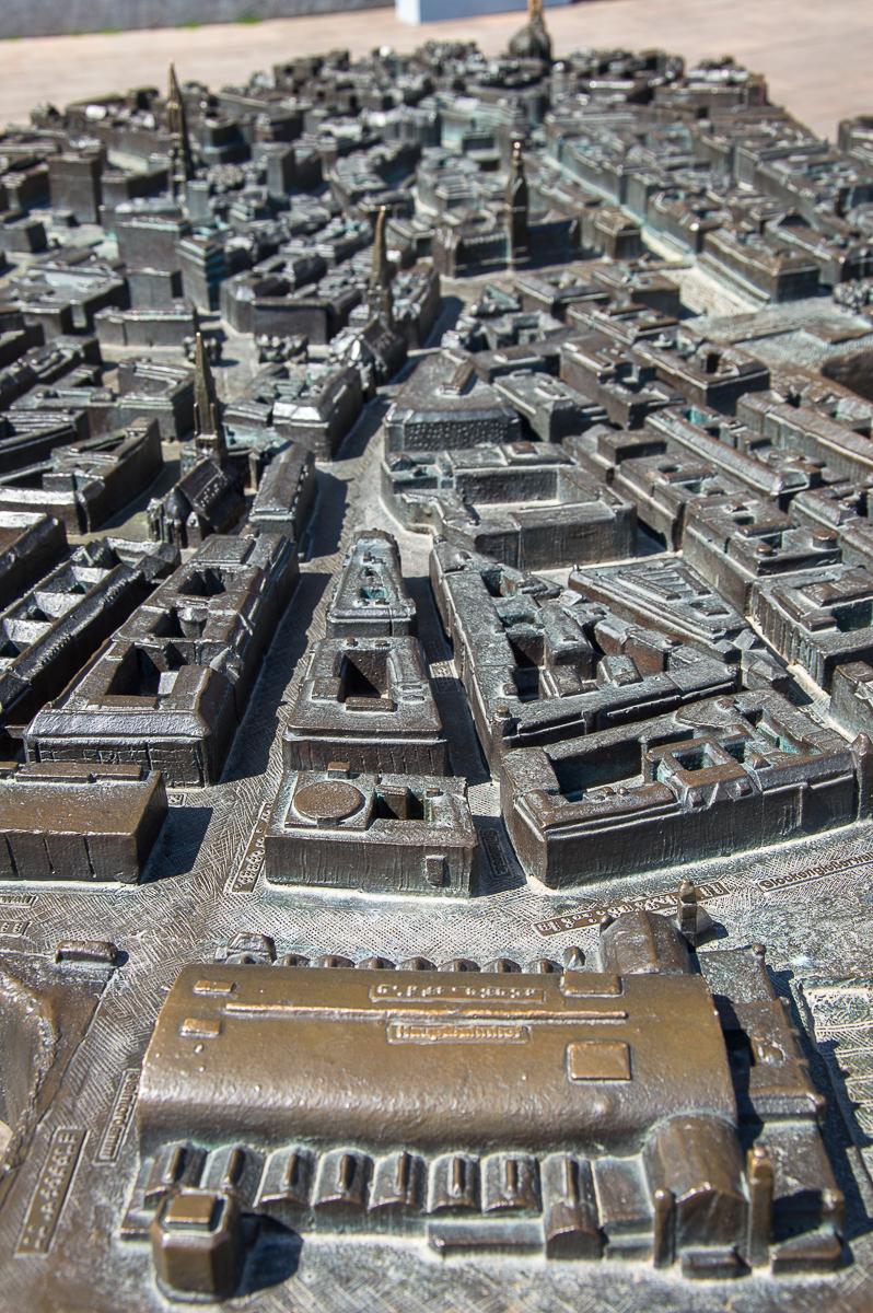 Blick auf das Stadtmodell von Hamburg