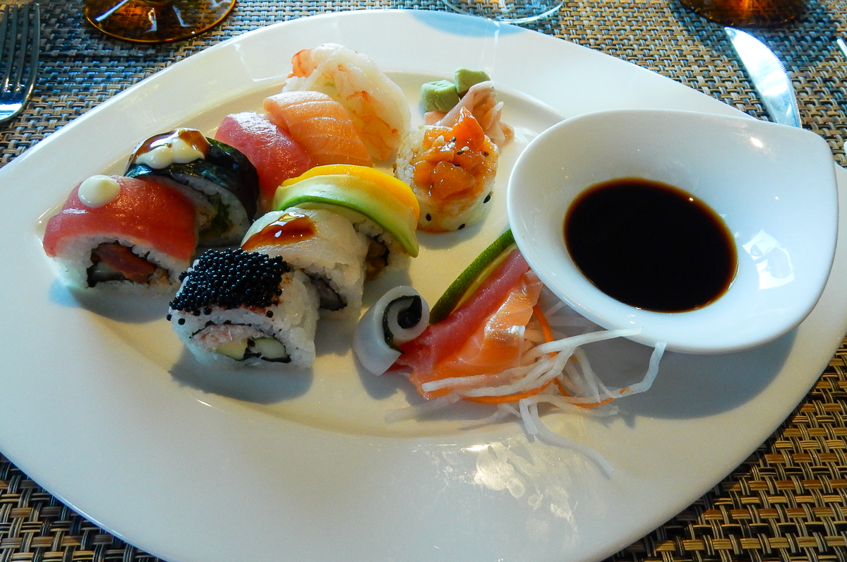 Sushi at the Tamarind Restaurant aboard the Eurodam