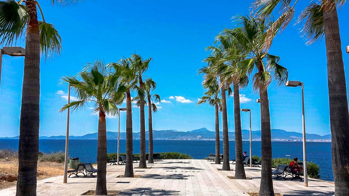 Aussichtspunkt an der Promenade in Son Verí Nou