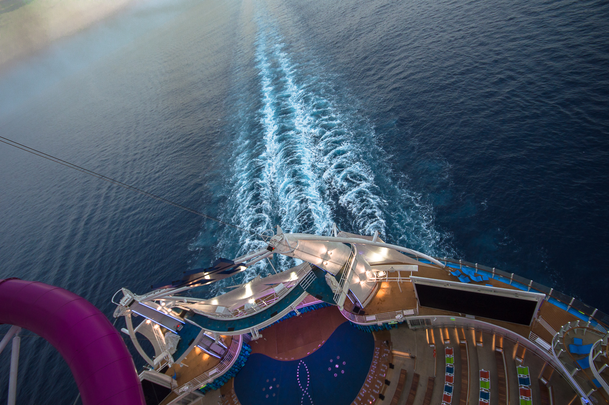 View from the Ultimate Abyss aboard the Harmony of the Seas